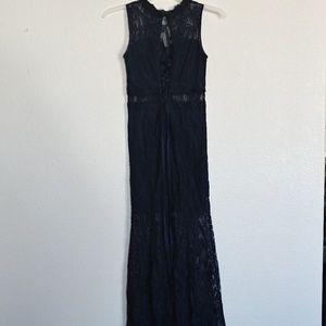 Juniors 3 ~ Speechless ~ Long Navy Blue DRESS